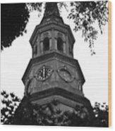 St. Philips Church Steeple Wood Print