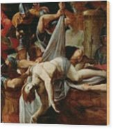 St Sebastian Thrown Into The Cloaca Maxima Wood Print