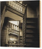 Staircase In Swannanoa Mansion Wood Print