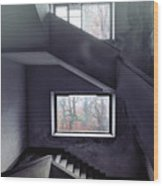 Stairs And Windows Wood Print