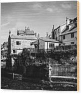 Staithes Village Wood Print