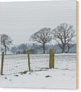 Standing In The Snow Wood Print