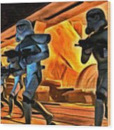 Star Wars Invasion Wood Print
