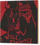 Star Wars - The Force Awakens Wood Print