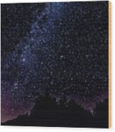 Stars Over Black Oak Lake 1 Wood Print