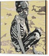 Starving African Boy Wood Print