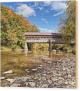 State Road Covered Bridge Wood Print