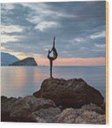 Statue In Budva Montenegro Wood Print