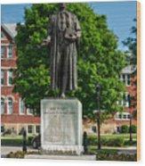 Statue Of Chief Justice John Marshall Wood Print