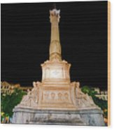 Statue Of Dom Pedro Iv Wood Print