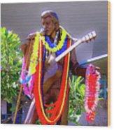 Statue Of, Elvis Presley - Honolulu, Hawaii  Wood Print