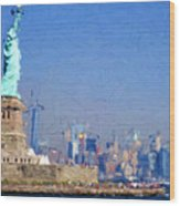 Statue Of Liberty, Nyc Wood Print