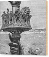 Statue Of Liberty: Torch Wood Print