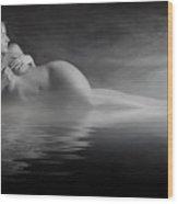 Steam Bath Wood Print