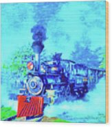 Edison Locomotive Wood Print