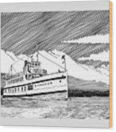 Steamship Virginia V Wood Print