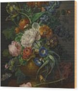 Still Life Of Flowers Wood Print