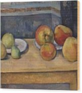 Still Life With Apples And Pears Wood Print