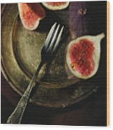 Still Life With Fresh Figs Wood Print