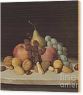 Still Life With Fruit And Nuts Wood Print