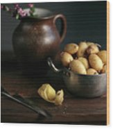 Still Life With Potatoes Wood Print