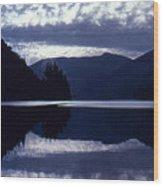 Still Mountain Lake 2  Wood Print