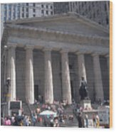 Stock Exchange On Wall Street Wood Print