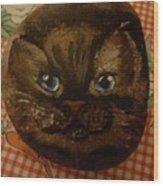 Stone Cats  Wood Print