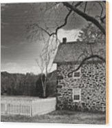 Stone Farmhouse Wood Print