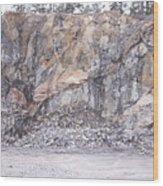 Stone Mine Wood Print