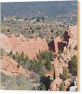 Stone Quarry At Red Rock Canyon Open Space Park Wood Print