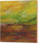 Storm At Sunrise Wood Print