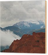 Storm Brewing At Garden Of The Gods Wood Print
