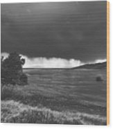 Storm Brewing Over The Mud Flats Wood Print