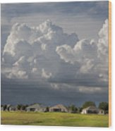 Storm Clouds Over Florida Wood Print