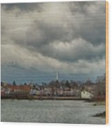 Storm Clouds Over The Bass River Wood Print