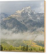 Storm On Grand Teton Wood Print