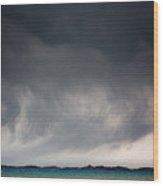 Storm On Karakul Lake Wood Print
