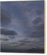 Storm Over Cleveland Wood Print