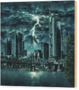 Storm Over Frankfurt Wood Print