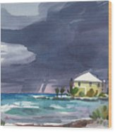 Storm Over Key West Wood Print
