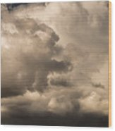 Storm Over Table Rock Wood Print