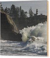 Storm Surf Wood Print