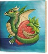 Strawberry Dragon Wood Print