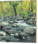 Stream In Cottonwood Canyon, Sedona Wood Print