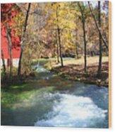 Stream Running Wood Print by Jim Kuhlmann