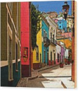 Street Of Color Guanajuato 2 Wood Print