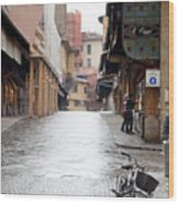 Streets Of Florence Wood Print