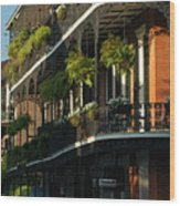 Streets Of New Orleans Wood Print