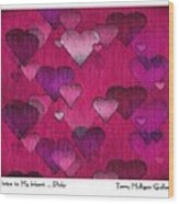 Striae To My Heart ... Pinks Wood Print